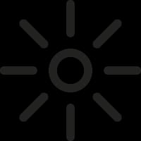 Brightness Symbol vector