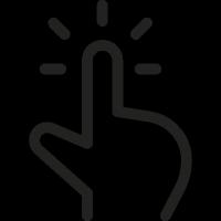 One Finger Click vector
