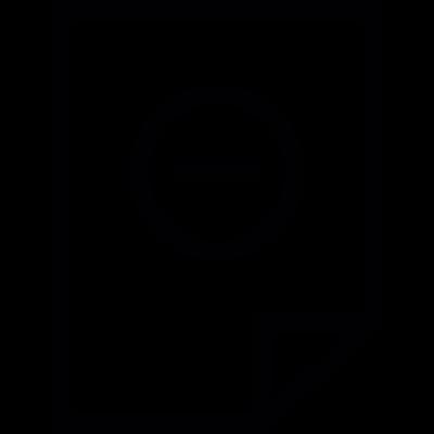 Remove File vector logo