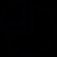 Graph pie vector