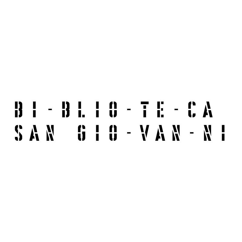 Biblioteca San Giovanni 71106 vector