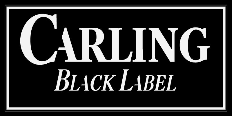 Carling Black label vector