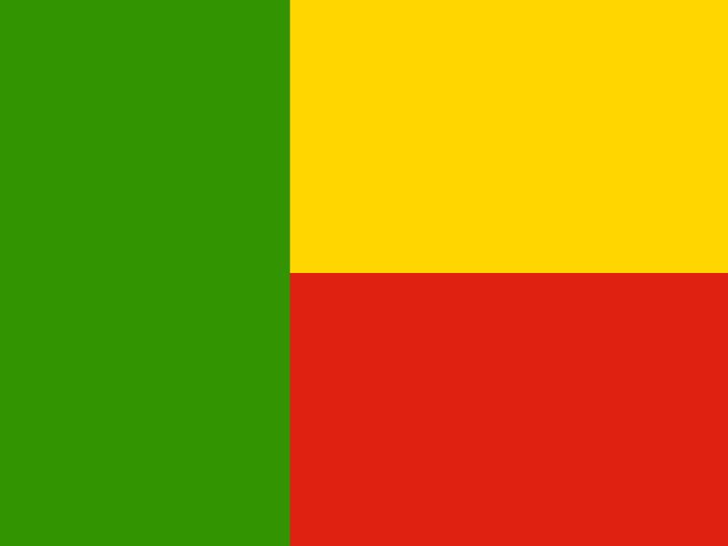 Flag of Benin vector