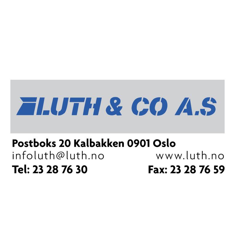 LUTH & CO AS vector logo