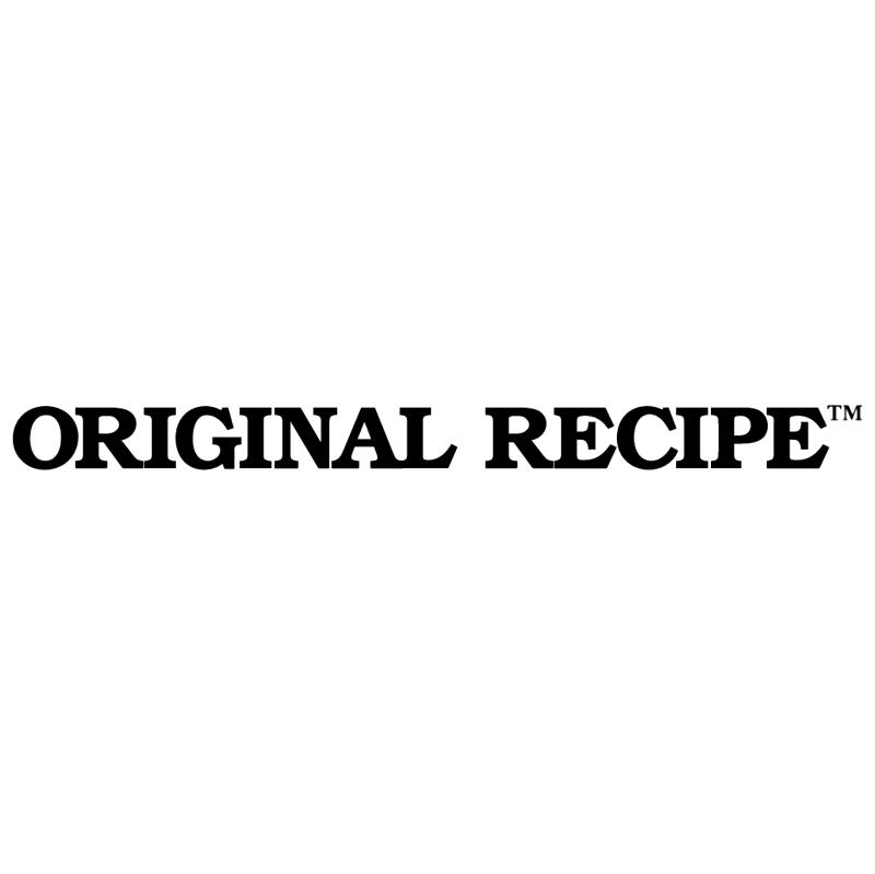 Original Recipe vector