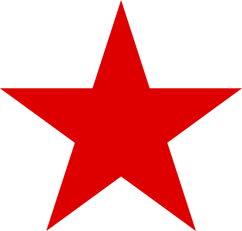 Red Star vector logo