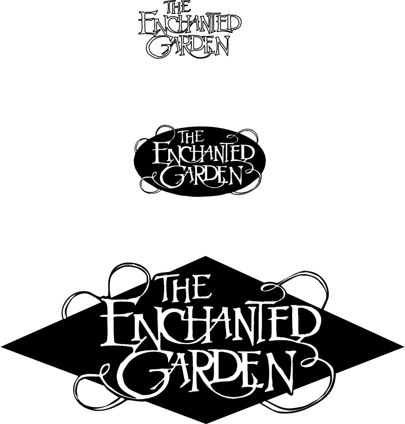 The Enchanted Garden vector