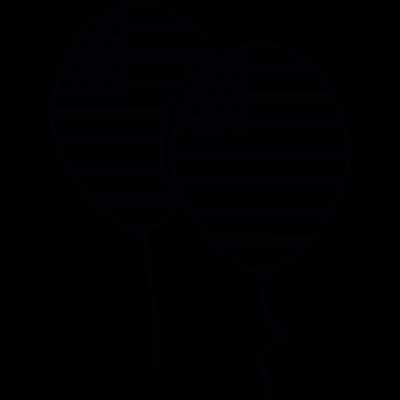 July Fourth balloons vector logo