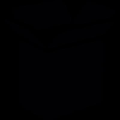 Open cargo box vector logo