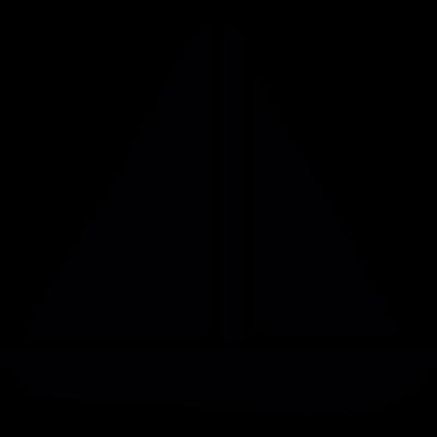 Sailboat sailing vector logo