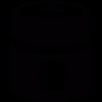 Barrel with pentagons vector