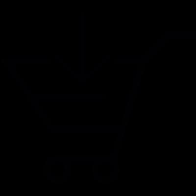 Shopping cart, IOS 7 interface symbol vector logo