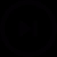 Skip circular button vector
