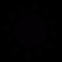 Sun with sunrays vector