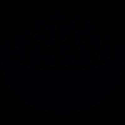 Food full bowl vector logo