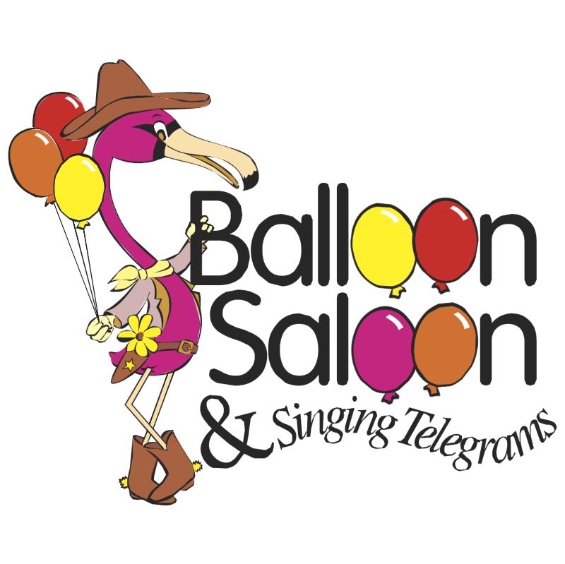 Balloon Saloon & Singing Telegrams vector
