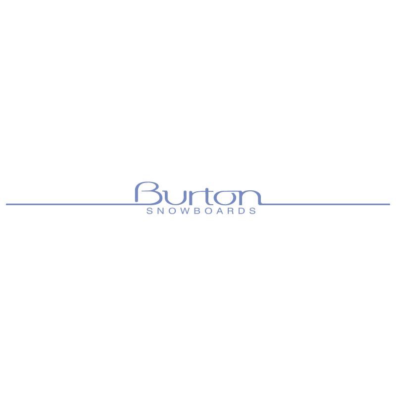 Burton Snowboards 15296 vector