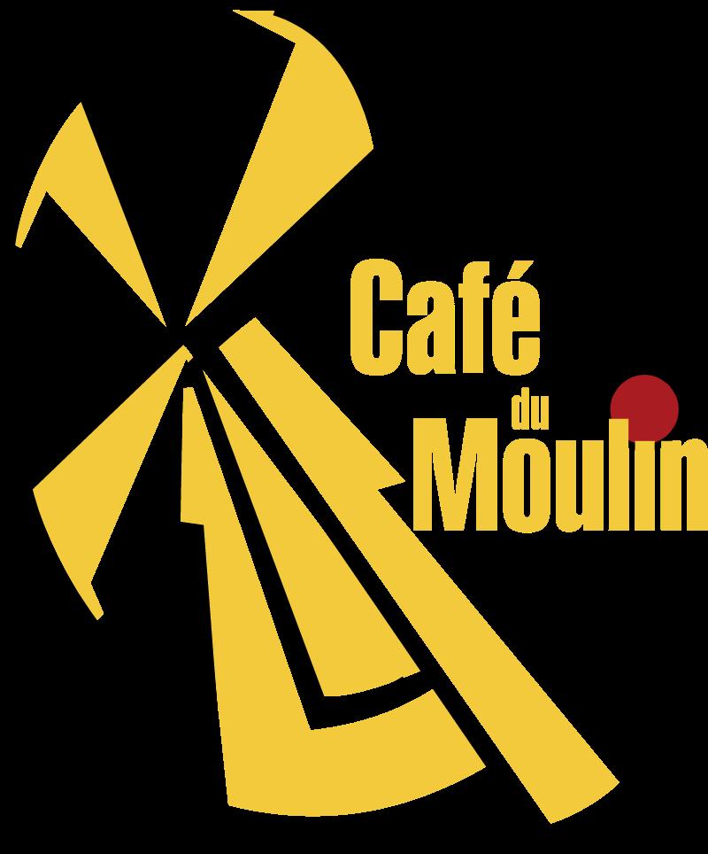 Cafe du Moulin logo vector