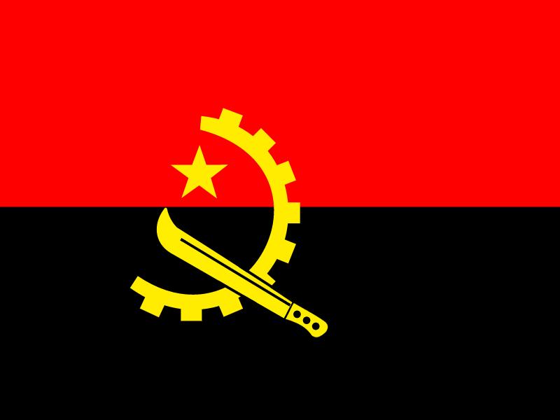 Flag of Angola vector