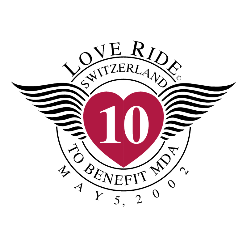 Love Ride Switzerland vector