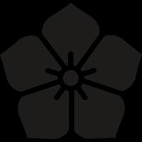 Japanese flower vector