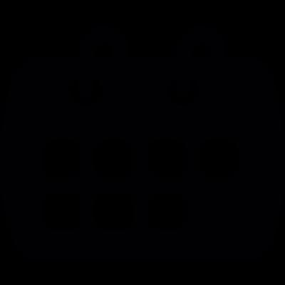 Calendar week page vector logo