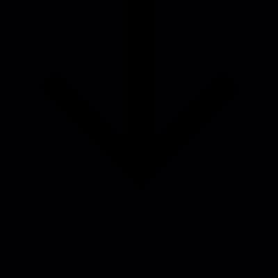 Arrow down inside a black square vector logo