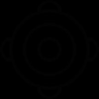 Ornamented bullseye vector