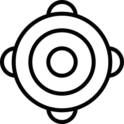 Ornamented bullseye vector logo
