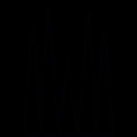 Sagrada Familia building, IOS 7 symbol vector
