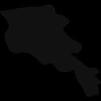 Armenia black country map shape vector