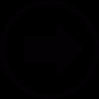 Right arrow button vector