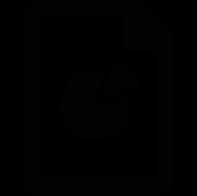 Pie Chart Document vector logo