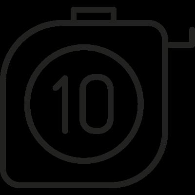 Meter Tape vector logo