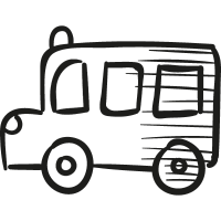 Draw School Bus vector