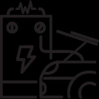 Car Battery Charging vector