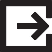 Exit Right vector