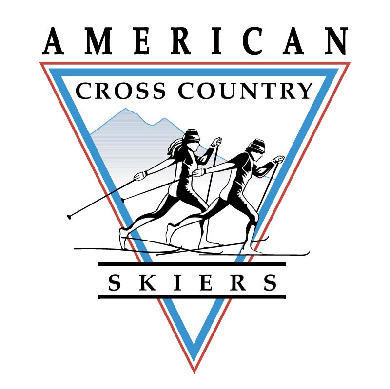 American Cross Country Skiers 71893 vector