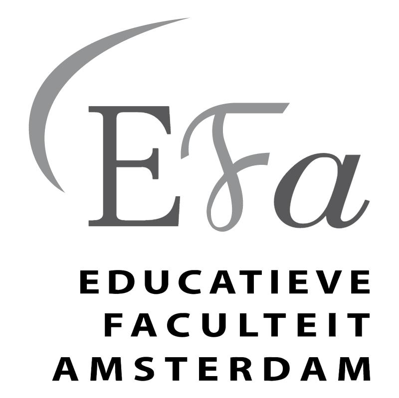Educatieve Faculteit Amsterdam vector