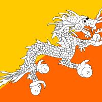 Flag of Bhutan vector