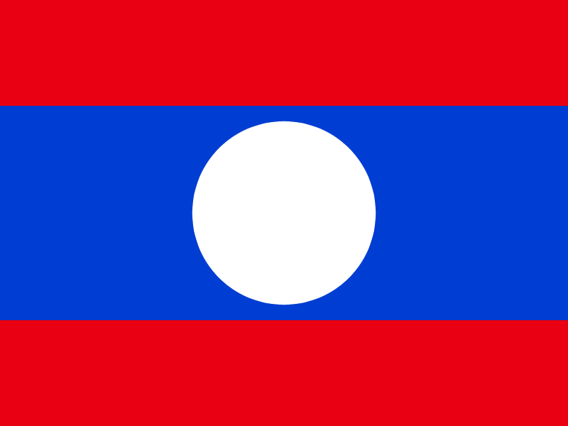 Flag of Lao People's Democratic Republic vector
