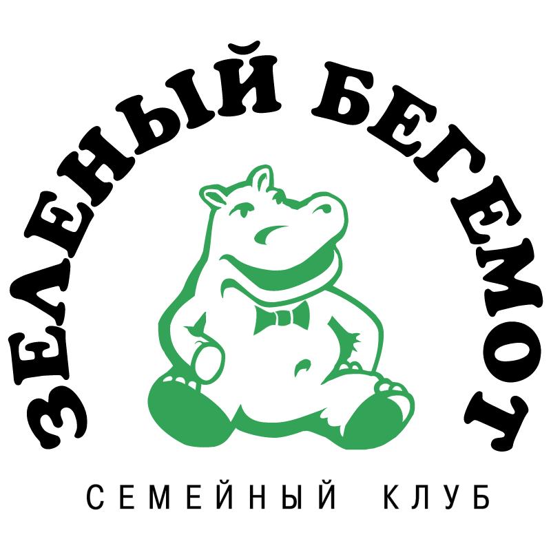Green Hippopotam vector