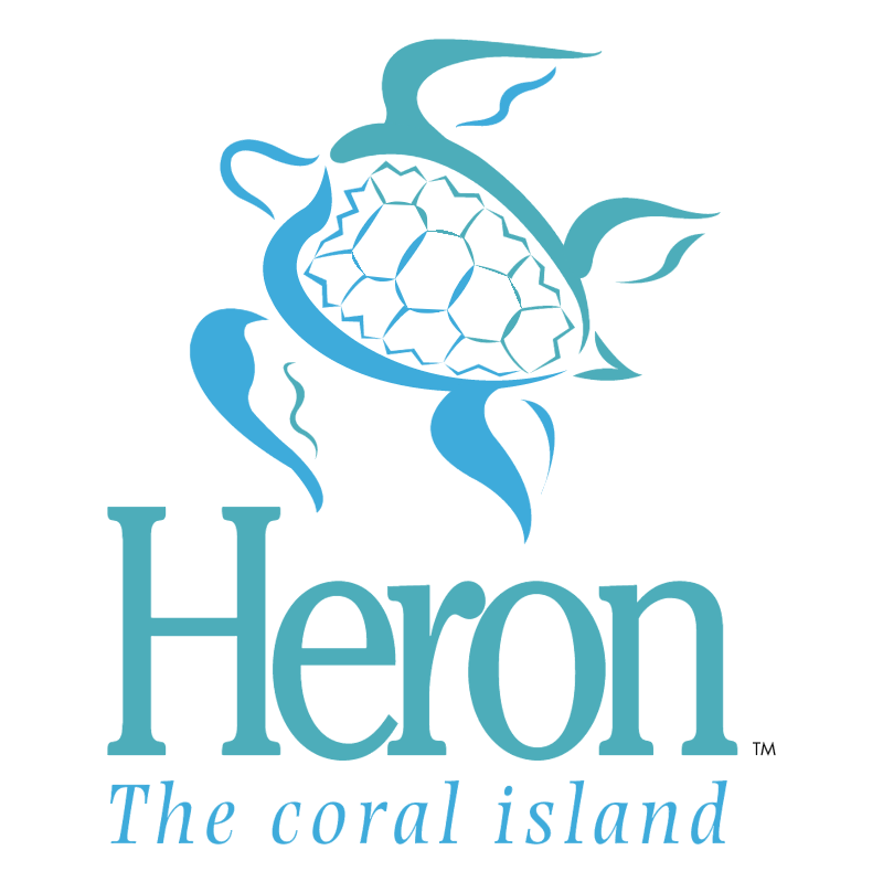 Heron The coral island vector