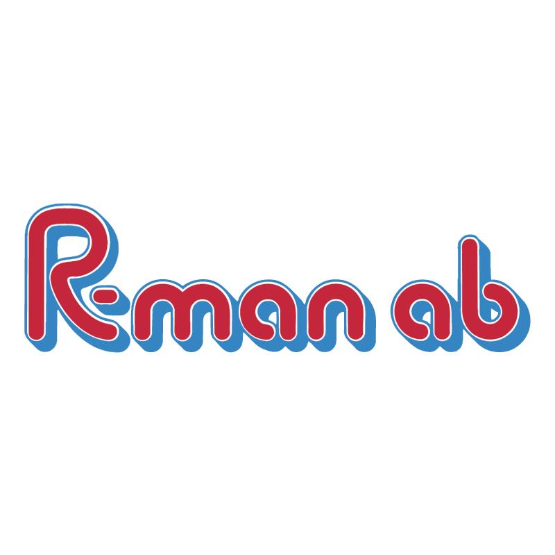 R man vector logo