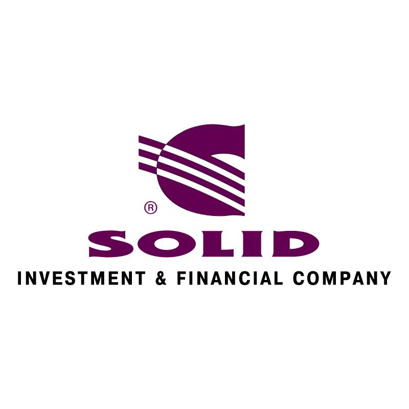 Solid vector logo