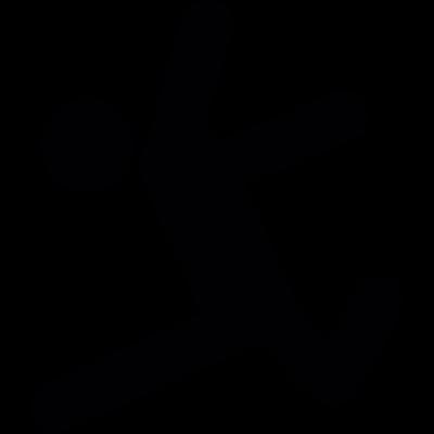 Long Jump vector logo
