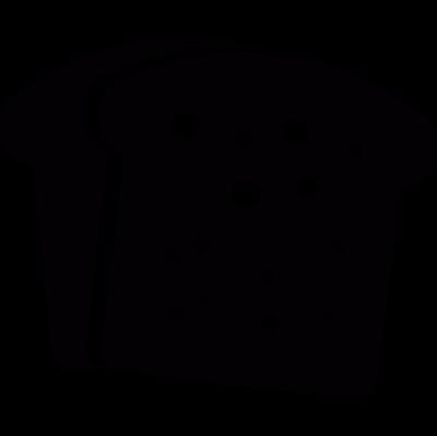 Breakfast bread toasts vector logo