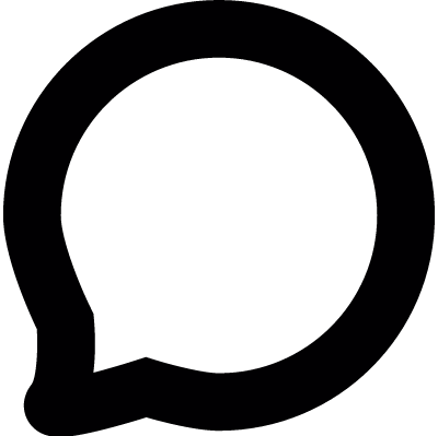 Comment circular shape vector logo
