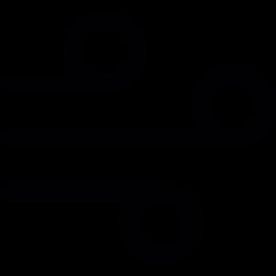 Wind lines vector logo