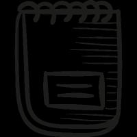Ringed notepad vector